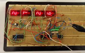 simple digital frequency meter frequency meter in breadboard