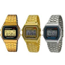 classic retro vintage style gold silver mens ladies digital metal classic retro vintage style gold silver mens ladies digital metal lcd watch