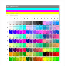 Pantone Coated Color Chart Pdf 9 Pantone Color Chart Templates Free Sample Example