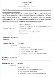 Resume Template In Word Format – Lespa