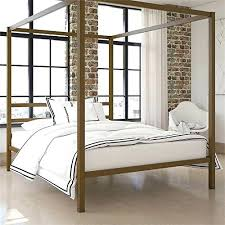 Gold Canopy Bed Modern Queen Metal Canopy Bed In Gold Gold Canopy ...