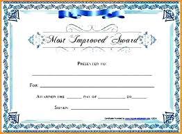 Certificate Template Word Blank Free Printable Gift