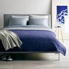L&E Solid Navy/Gray Reversible Quilt Queen | Unison & L&E Solid Navy/Gray Reversible Quilt Queen Adamdwight.com
