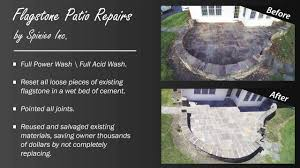 loose flagstone patio. Flagstone Patio Repair   Before \u0026 After Spinieo Inc. Montgomeryville PA - YouTube Loose T