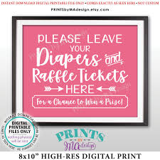 raffle sign diaper raffle ticket sign leave your diapers and raffle tickets