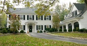 classic white house black shutters