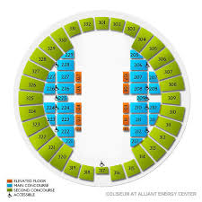 Coliseum At Alliant Energy Center 2019 Seating Chart