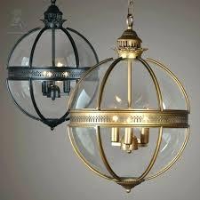 clear globe lamp shade glass globe pendant lights vintage loft light iron round ball lamp shade