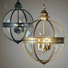 clear globe lamp shade glass globe pendant lights vintage loft light iron round ball lamp shade