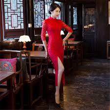 <b>Shanghai Story</b> Blend Cotton long Chinese <b>Qipao</b> Dress <b>vintage</b> ...