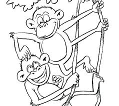 Printable Monkey Coloring Pages Monkey Coloring Pages Elegant Free