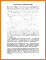 7 Summary Statement Resume Self Introduce