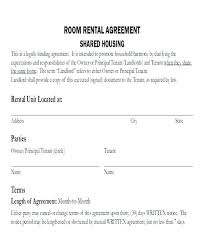 Contract Templates In Word Printable Sample Employment Room Rental ...