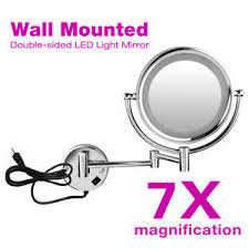 image is loading led lighted makeup wall mount 7x magnifying bathroom