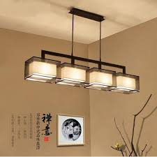 rectangular pendant lighting. New Chinese Restaurant Bedroom Pendant Lights Modern Minimalist Rectangular Lighting Hotel Study Pednant Lamp ZZP TA10197