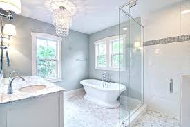 small glass chandelier for bathroom spa like master bath with glass chandelier and pedestal tub traditional small glass chandelier for bathroom