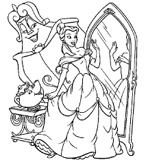 Small Picture Beauty And The Beast Belle Mirror Beauty and the Beast Coloring