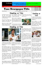 Newspaper Article Template For Pages Free Newspaper Templates Print And Digital Makemynewspaper Com