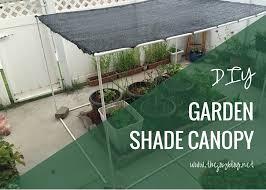 garden shade cloth. DIY Garden Shade Canopy // WWW.THEJOYBLOG.NET Cloth