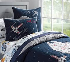 pottery barn millennium falcon quilted bedding