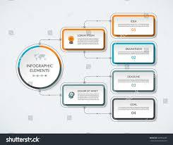 Modern Flow Chart Design Infographic Flow Chart 4 Options Modern Backgrounds