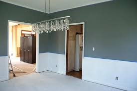 two tone wall color schemes image of two tone walls with chair rail home earth tone