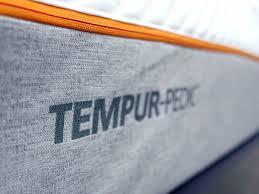 tempur pedic logo. Ultra Close Up Shot Of The Tempurpedic Contour Rhapsody Luxe Mattress Logo Tempur Pedic