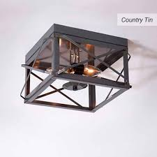 tin lighting. Wonderful Lighting Double Ceiling Light With Folded Bars In Country Tin To Lighting