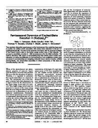 femtosecond chemistry. femtosecond dynamics of excited-state evolution in - msu chemistry
