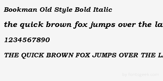 preview your text in bookman old style bold italic