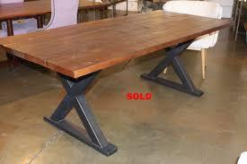 Metal Base Dining Table