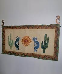 Quilt Hangers, Hooks & Rods from Summer Sky Creations & Used 2 Kokopelli hooks and a telescoping rod for her southwest kokopelli  quilt. Adamdwight.com