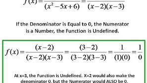 we get the following equivalent function f x x 2 x 2 x 3 now if the denominator x 2 x 3 0 then the rational function will