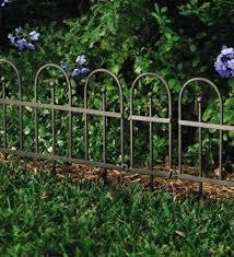 garden border fence easy locking garden or flower bed iron fence edging metal garden border fence
