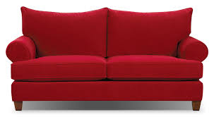 The Brick Living Room Furniture Paige Microsuede Sofa Red The Brick