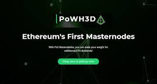 Proof Of Weak Hands 3d Powh3d An Ethereum Smart Contract