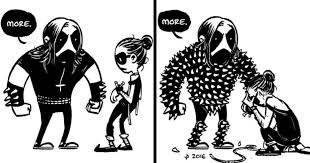 Everyday Life Of A Metalhead Couple In 10 Adorable Comics Demilked