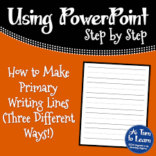Writing Lines For Kindergarten How To Make Primary Writing Lines A Turn To Learn