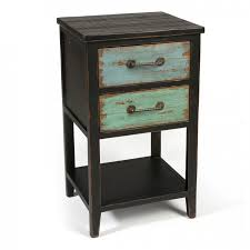 rustic tall black wooden bedside table with two drawers and shelf stunning tall bedside tables