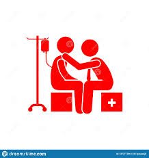 Red Checking Checking Doctor Patient Red Icon Stock Illustration