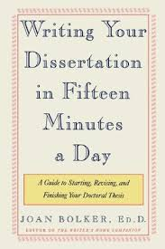 Writing your dissertation in fifteen minutes a day pdf