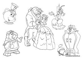 Small Picture Beauty And The Beast Chip Coloring Page Getcoloringpages Com