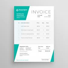 invoice template design geometric invoice template design inminimal style vector free download