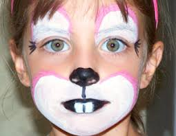 Small Picture bunny face paint Animal Faces Pinterest Bunny face paint and
