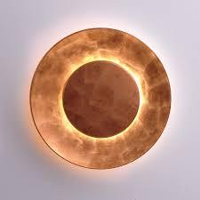 Light Copper Lunaire Design Wall Lamp Copper