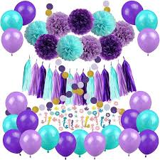 2019 Mermaid Birthday Party Theme Tableware Decoration Plates Paper Tassel Flower Ball\u0026Amp;Confetti Balloons For Wedding From Afantihourse,