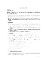 Sample Mandate Letter Arbitration Expense