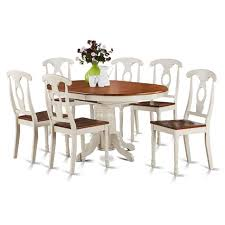 7 piece oval dining table and 6 dining chairs ebay