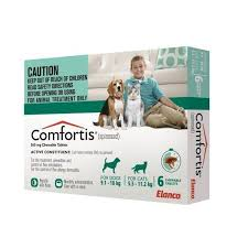 comfortis flea pill for dogs. Comfortis For Dogs 20.1-40lbs \u0026 Cats 12.1-24lbs - Green 6 Pack Flea Pill