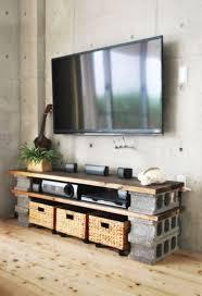 Cinderblock TV Console